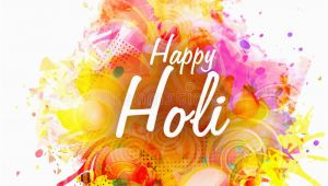 Happy Birthday Banner Background Hindi Poster Banner or Flyer for Holi Festival Celebration