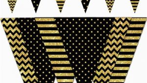 Happy Birthday Banner Black and Gold Happy New Year Banner Black and Gold Printable Banner New