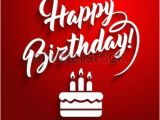 Happy Birthday Banner Black and Red Happy Birthday You Lettering Text Vector Stock Vector