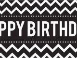 Happy Birthday Banner Black and White Chevron Black Birthday Banner Birthdayexpress Com
