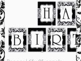 Happy Birthday Banner Black and White Printable Free Printable Happy Birthday Banner Black and White