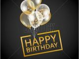 Happy Birthday Banner Black Background Balloons Happy Birthday On Black Vector Photo Bigstock
