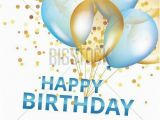Happy Birthday Banner Blue Background Balloons Happy Birthday On Black Gold and Blue Balloon