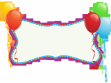 Happy Birthday Banner Blue Background Birthday Holiday Banner with Balloons Png Clipart