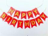 Happy Birthday Banner Blue Gold Gold Glitter Red Happy Birthday Banner Sparkly Birthday 1st