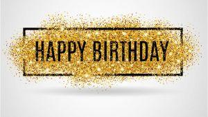 Happy Birthday Banner Blue Gold Gold Happy Birthday Stock Vector Image 67423577