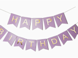 Happy Birthday Banner Blue Gold sonder Co Happy Birthday Banner Purple and Gold Foil