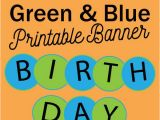 Happy Birthday Banner Blue Printable Blue and Green Circle Happy Birthday Banner Mandy 39 S