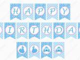 Happy Birthday Banner Blue Printable Diy Cinderella Inspired Printable Birthday Banner Party