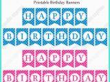 Happy Birthday Banner Blue Printable Free Printable Happy Birthday Banners Pink Blue Free