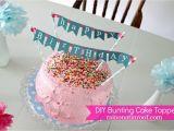 Happy Birthday Banner Cake topper Diy Diy Birthday Cake toppers