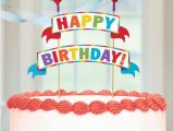 Happy Birthday Banner Cake topper Multicolor Happy Birthday Banner Cake topper