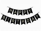 Happy Birthday Banner Clipart Black and White Amazon Com Black Happy Birthday Banner Decorations