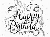 Happy Birthday Banner Clipart Black and White Black and White Happy Birthday Typography Vector Free
