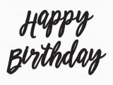 Happy Birthday Banner Clipart Black and White Party Banner Happy Birthday Script