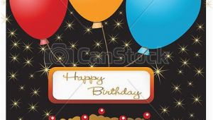 Happy Birthday Banner Clipart Editable Vector Illustration Of Happy Birthday Card Completely