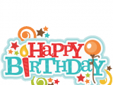 Happy Birthday Banner Clipart Png Happy Birthday Title Svg Scrapbook Cut File Cute Clipart