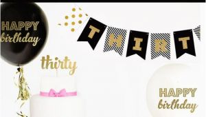 Happy Birthday Banner Creator 30th Birthday Banner 30th Birthday Decor 30th Birthday