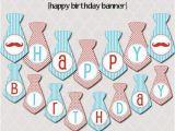 Happy Birthday Banner Creator Little Man Happy Birthday Banner Printable Instant