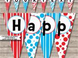 Happy Birthday Banner Design Diy Dr Seuss Party Banner Template Birthday Banner