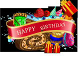 Happy Birthday Banner Design Vector Free Download Beautiful Ribbon Birthday Background Vector Material