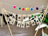 Happy Birthday Banner Diy Diy Birthday Cake Banner with Pom Poms Mother 39 S Niche