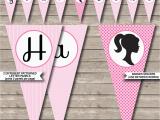 Happy Birthday Banner Diy Printable Barbie Party Banner Template Birthday Banner Editable