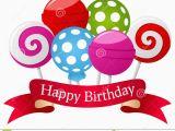 Happy Birthday Banner Drawing Piruleta Y Cinta Del Feliz Cumpleanos Ilustracion Del