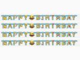 Happy Birthday Banner Emoji Emoji Icon Happy Birthday Paper Letter Banner Buy Online