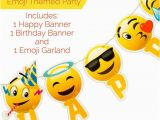 Happy Birthday Banner Emoji Happy Birthday Banner Emoji with Garland Strip Rebatekey