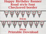 Happy Birthday Banner Font Race Car theme 39 Happy Birthday 39 Banner Road Font