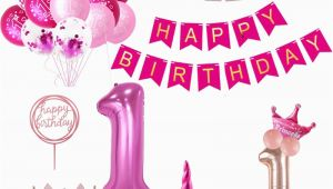 Happy Birthday Banner for 1 Year Old Weigao First Birthday Banner Garlands One Year Old First