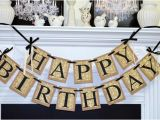 Happy Birthday Banner for Adults Happy Birthday Banner Birthday Party Decorations Damask
