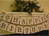 Happy Birthday Banner for Adults Items Similar to Happy Birthday Banner Garland for Adults
