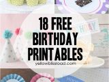 Happy Birthday Banner for Cake Printable 37 Birthday Printables Cakes and A Giveaway