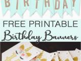 Happy Birthday Banner Free Printable Boy Free Printable Birthday Banners the Girl Creative