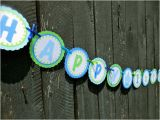 Happy Birthday Banner Free Printable Boy Instant Download Printable Happy 1st Birthday Banner Blue