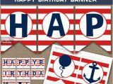 Happy Birthday Banner Free Printable Boy Items Similar to Birthday Banner Printable Happy