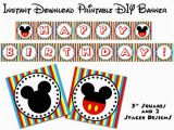 Happy Birthday Banner Free Printable Mickey Mouse Instant Download Mouse Clubhouse Printable Happy Birthday