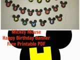 Happy Birthday Banner Free Printable Mickey Mouse It 39 S My Wonderful Chaotic Life Mickey Mouse Birthday