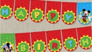 Happy Birthday Banner Free Printable Mickey Mouse Mickey Mouse Clubhouse Birthday Banner Disney Mickey