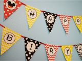 Happy Birthday Banner Free Printable Mickey Mouse Mickey Mouse Party Happy Birthday Banner Mickey Mouse