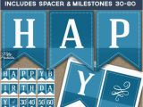 Happy Birthday Banner Free Printables Happy Birthday Banner Printable Blue Birthday Banner
