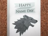 Happy Birthday Banner Game Of Thrones Game Of Thrones Birthday Card Name Day Card Stark Birthday