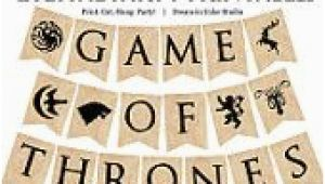 Happy Birthday Banner Game Of Thrones Game Of Thrones Full Alphabet and 7 House Sigils