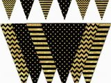 Happy Birthday Banner Gold and Black Happy New Year Banner Black and Gold Printable Banner New