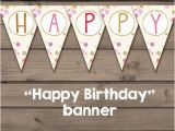 Happy Birthday Banner Gold and Pink Happy Birthday Banner Gold Pink Glitter Confetti Happy