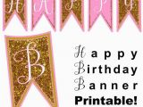 Happy Birthday Banner Gold and Pink Pink Gold Happy Birthday Banner Great for A Princess