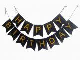 Happy Birthday Banner Gold Black and Gold Birthday Banner Ge15 Advancedmassagebysara