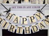 Happy Birthday Banner Gold Printable Happy Birthday Banner Gold Damask Black Gold Birthday
